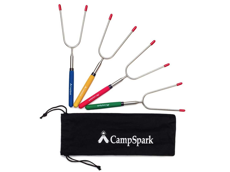 CampSpark 34-inch Telescoping Roasting Sticks