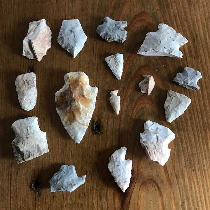 a collection of arrowheads
