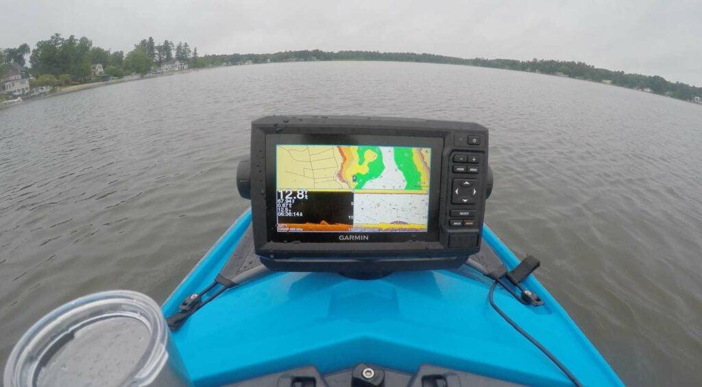 Marking fish and navigating on the GARMIN ECHOMAP Plus 63cv.