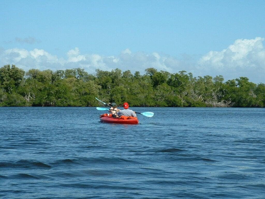 Kayaking on Estero Bay