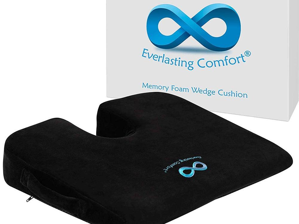 Everlasting Comfort 100% Pure Memory Foam Wedge Seat Cushion