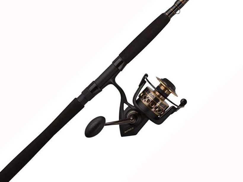 penn battle 2 spinning fishing reel combo