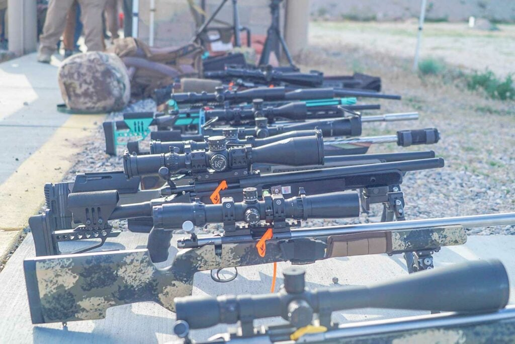 a lineup of rifles at the nrl22 national championships