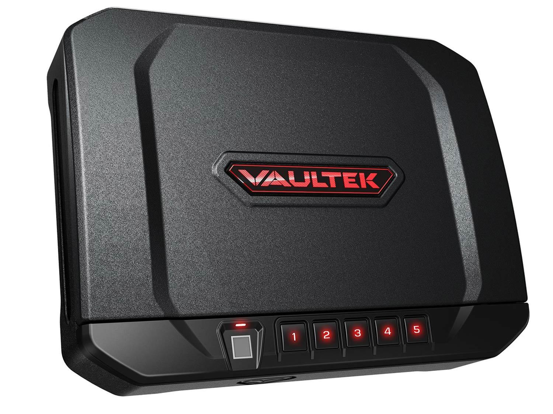 vaultek biometric bluetooth auto open rechargeable gun safe