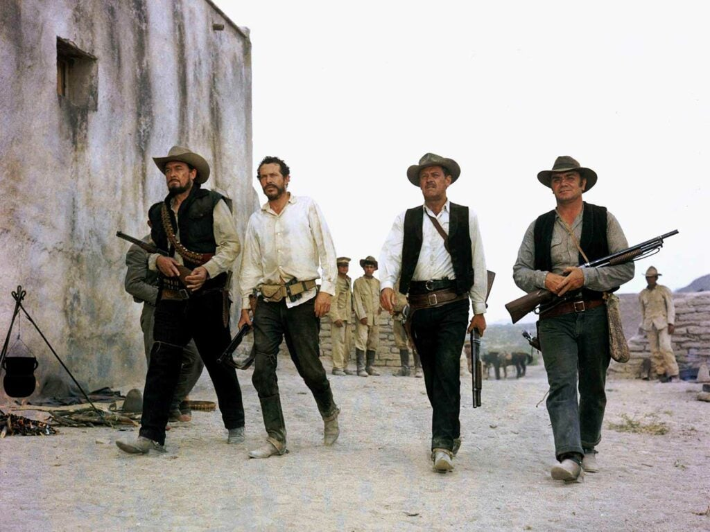 four men in the wild bunch movie