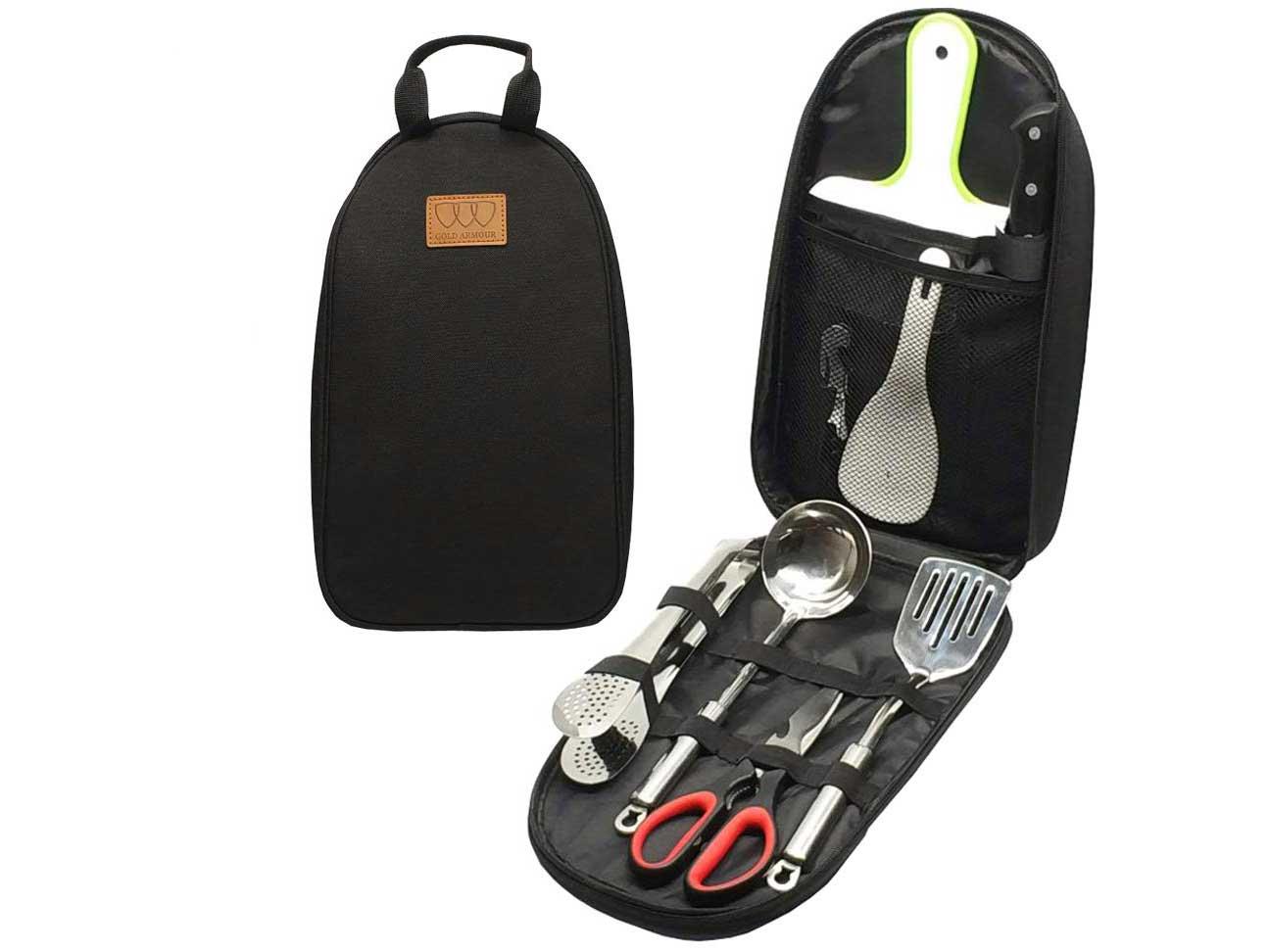 Camping Cookware Kitchen Utensil Organizer Travel Set