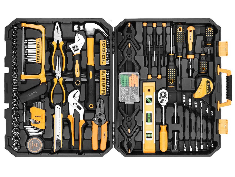 DEKOPRO 168 Piece Socket Wrench Auto Repair Tool Set