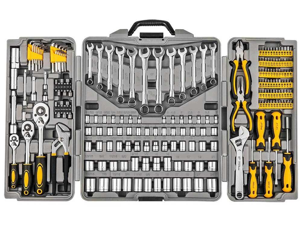 Mechanics Household Tool Kit Set, 205-Piece