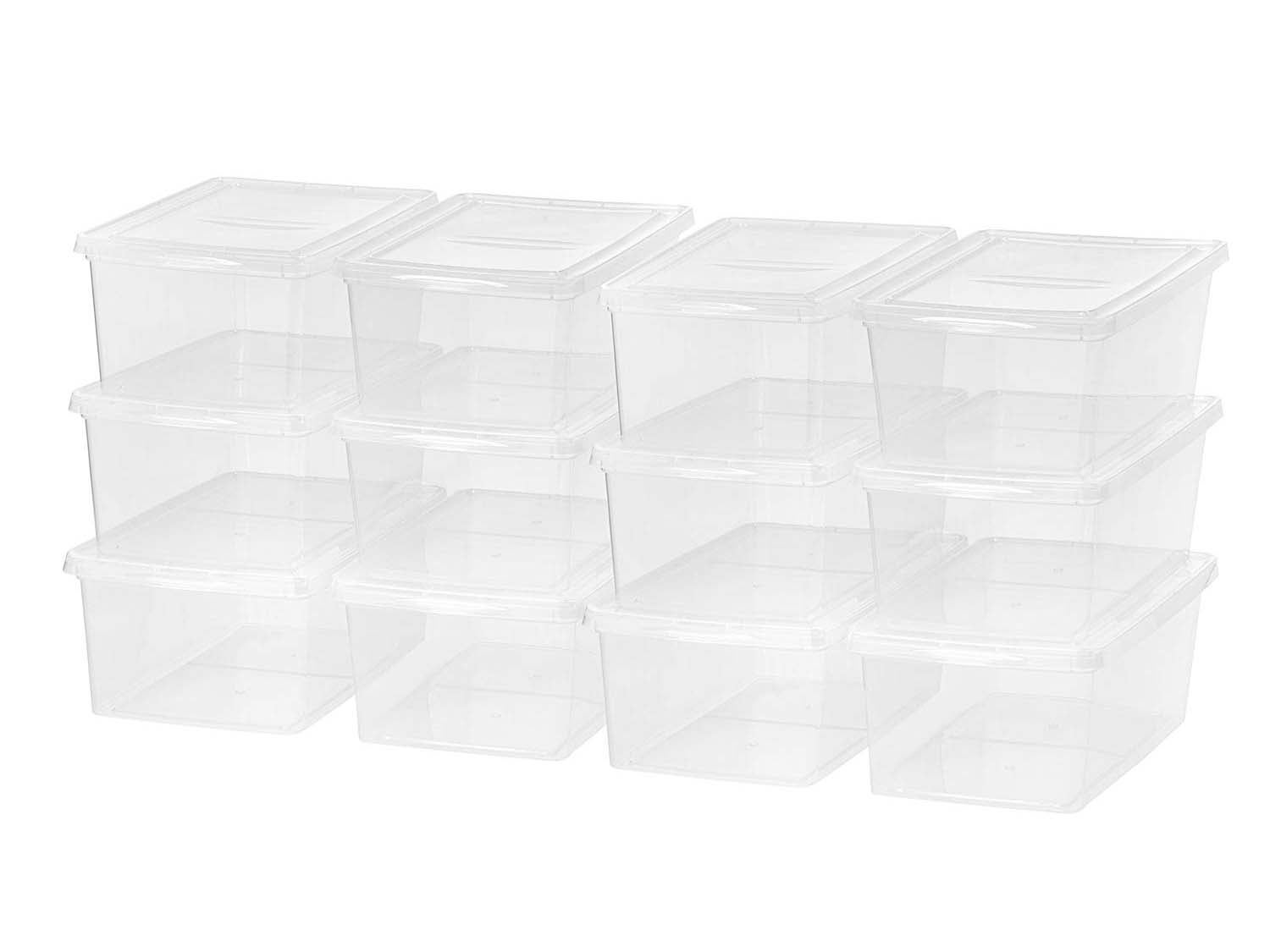 IRIS USA CNL-17 17 Quart Clear Storage Box, 12 Pack