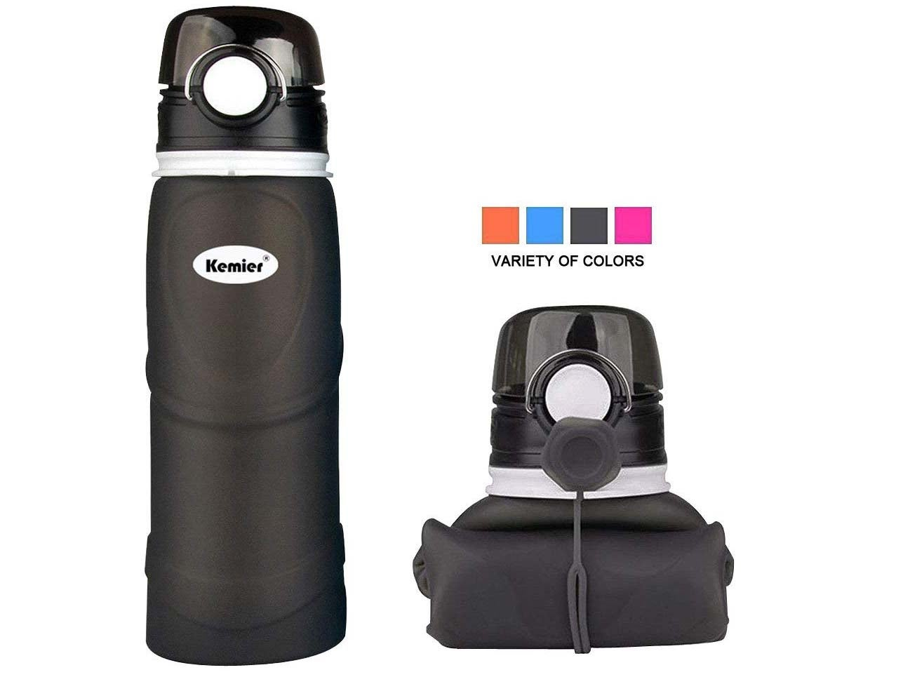 Kemier Collapsible Silicone Water Bottles-750ML