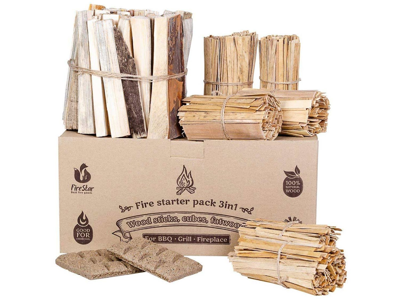 firestarters box kindling wood sticks