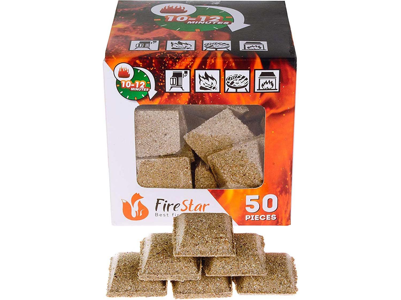 Fireplace starter cubes