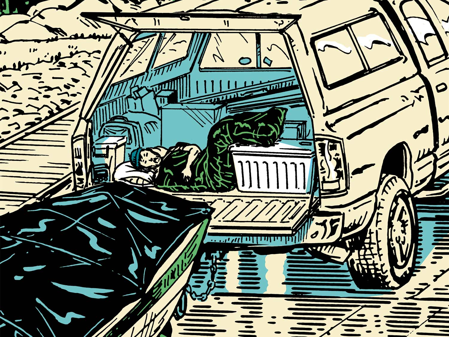 The Art of Sleeping in Your Hunting Truck