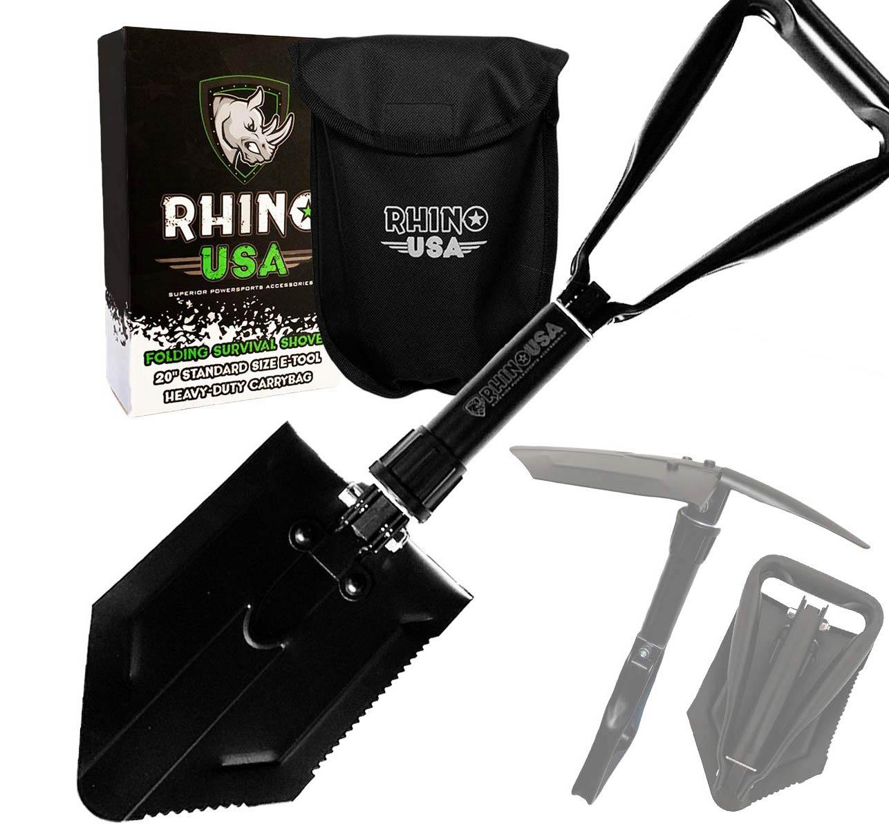 rhino usa folding survival shovel