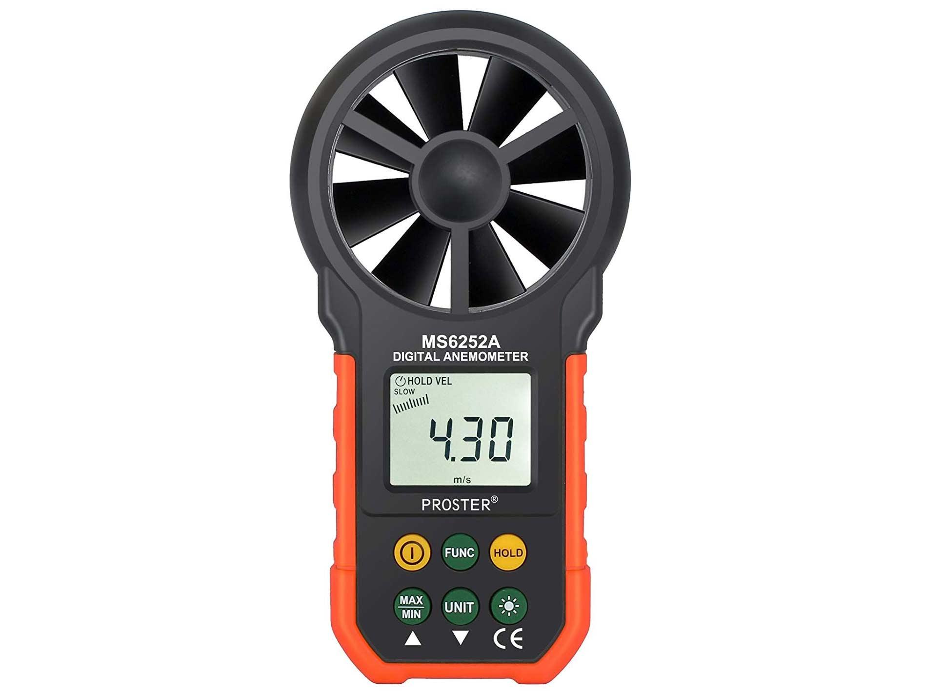 Proster Handheld Anemometer Portable Wind Speed Meter
