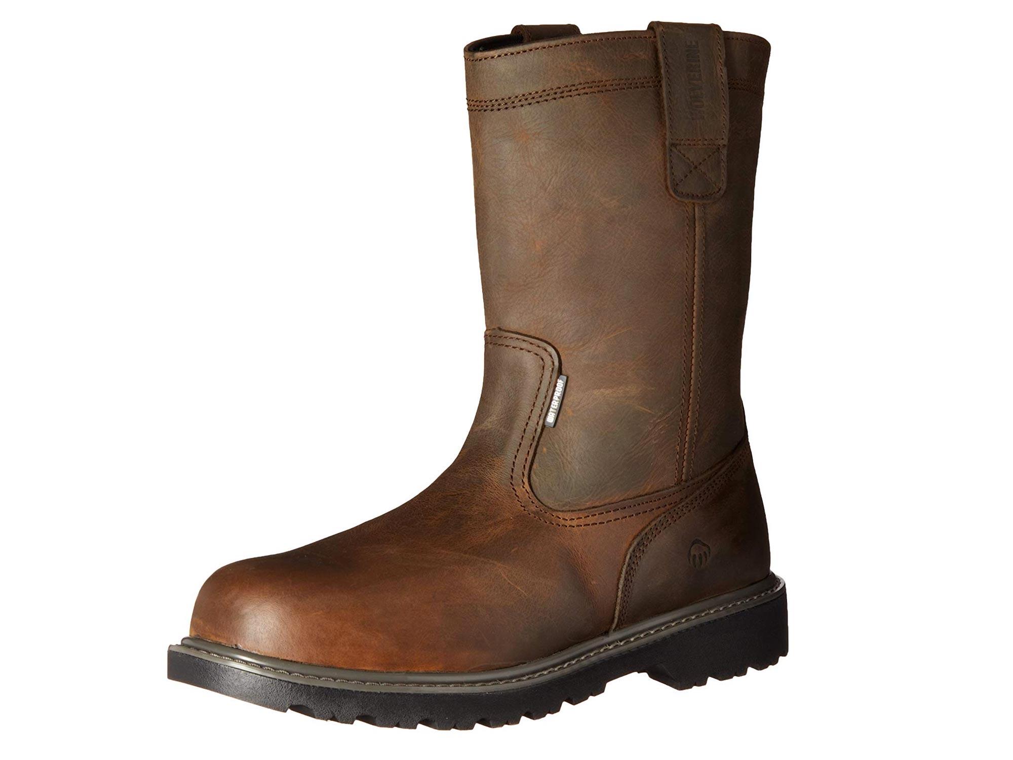 Wolverine steel toe slip on boot