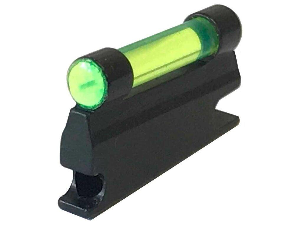 bright-green fiber optic front sight