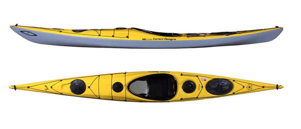 The Sisu, a Danish-style sea kayak from Current Designs Kayaks.
