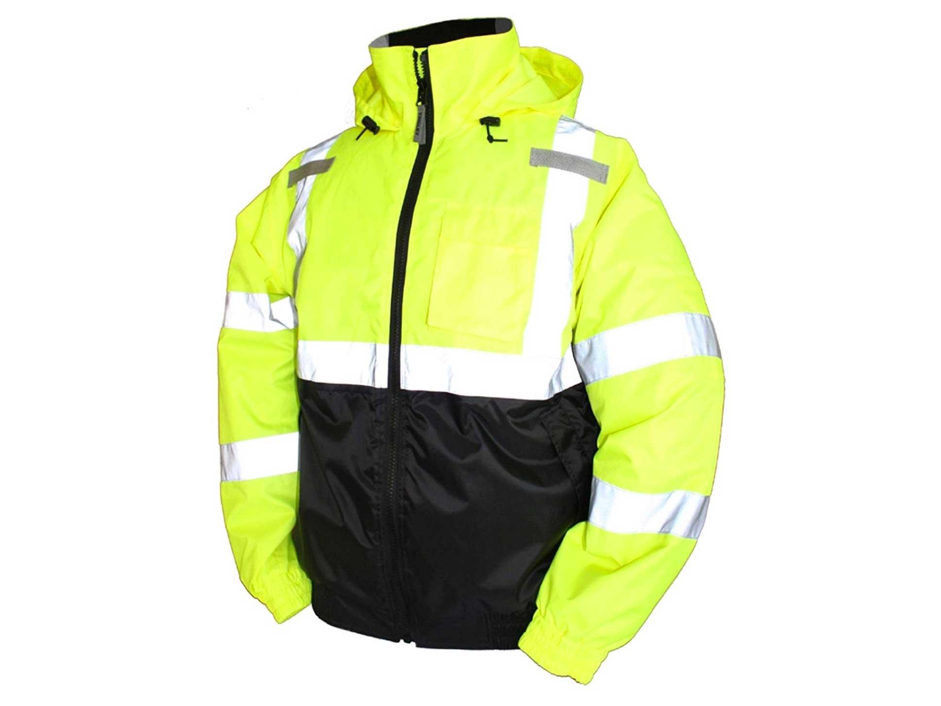 hi-vis neon bomber jacket