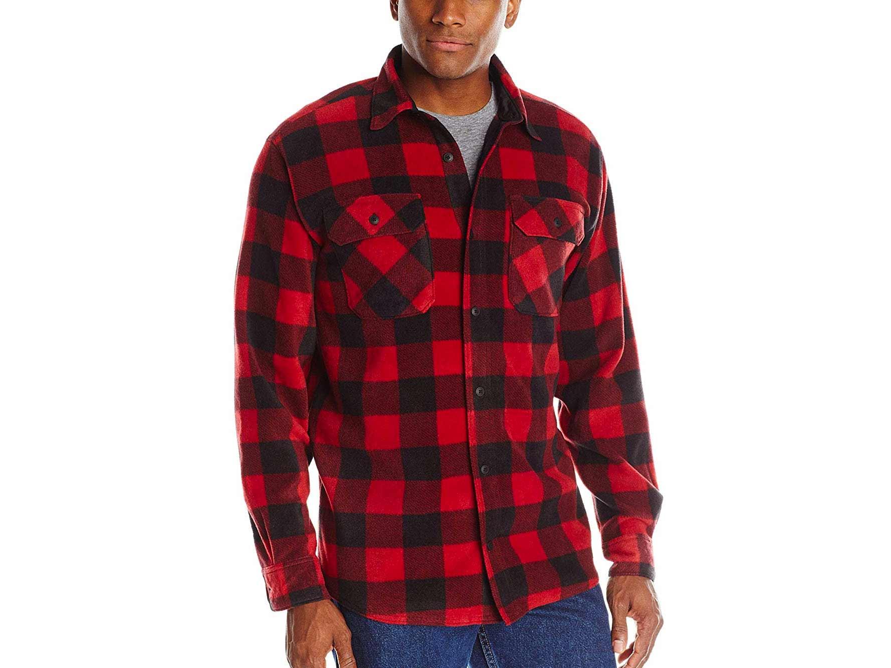 Red and black Wrangler plaid shirt