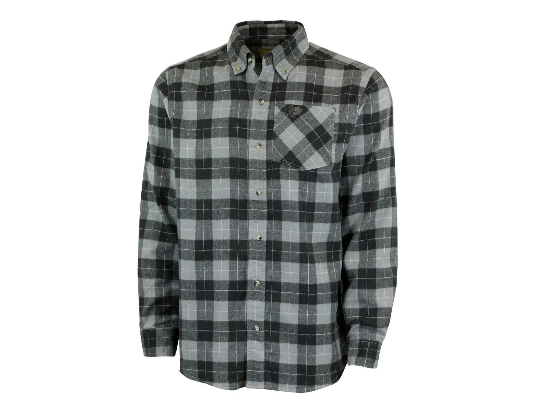 Grey and black plaid shirt