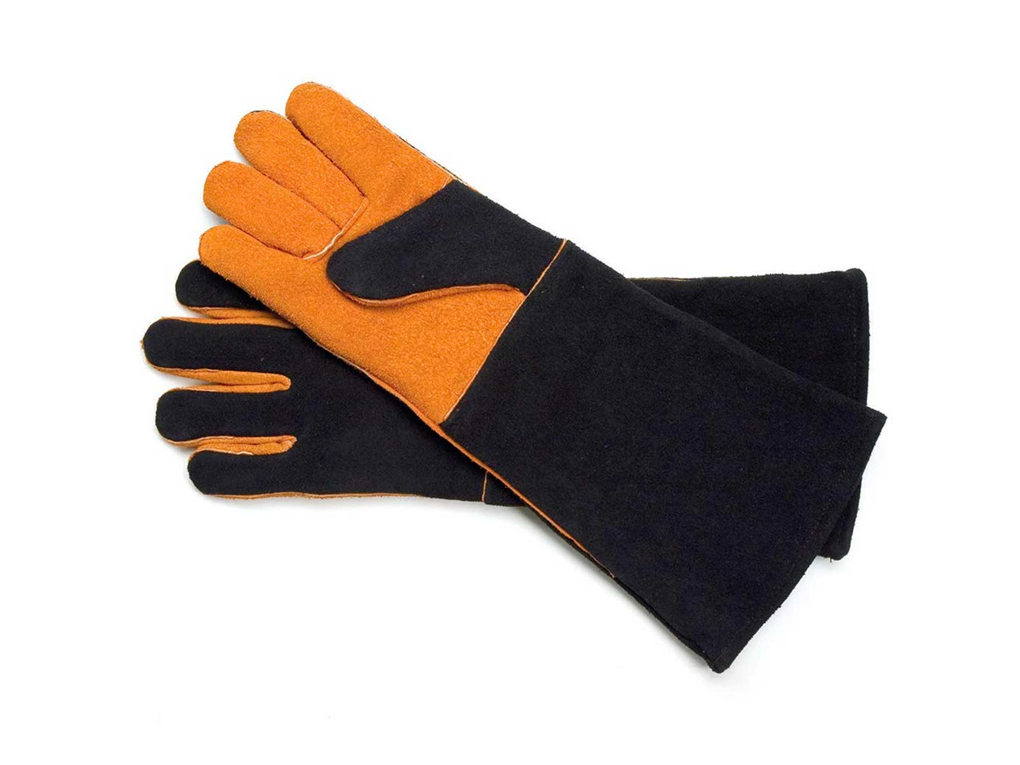 Steven Raichlen Best of Barbecue Extra Long Suede Grill Gloves (Pair)