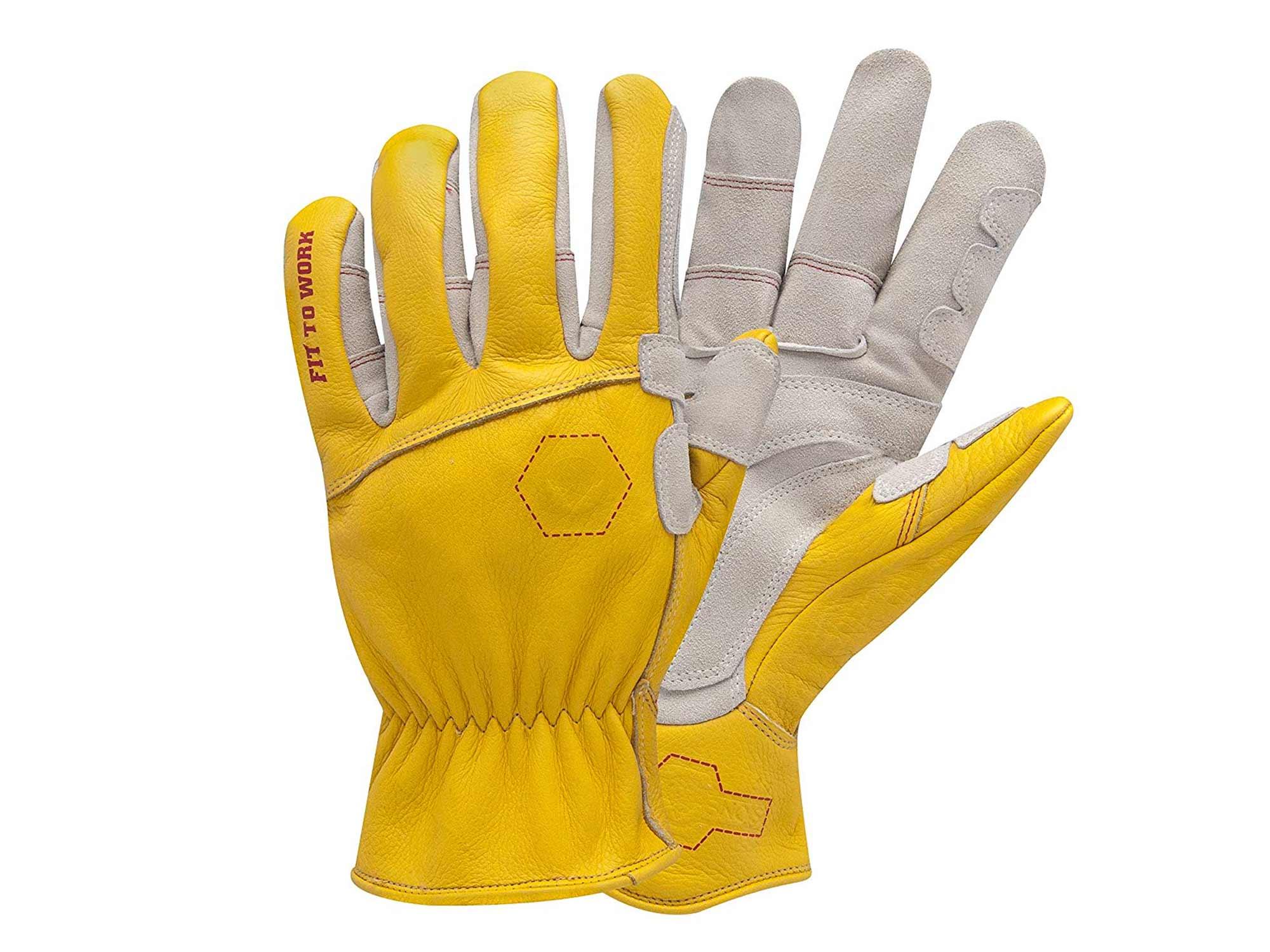 Yellow rancher gloves
