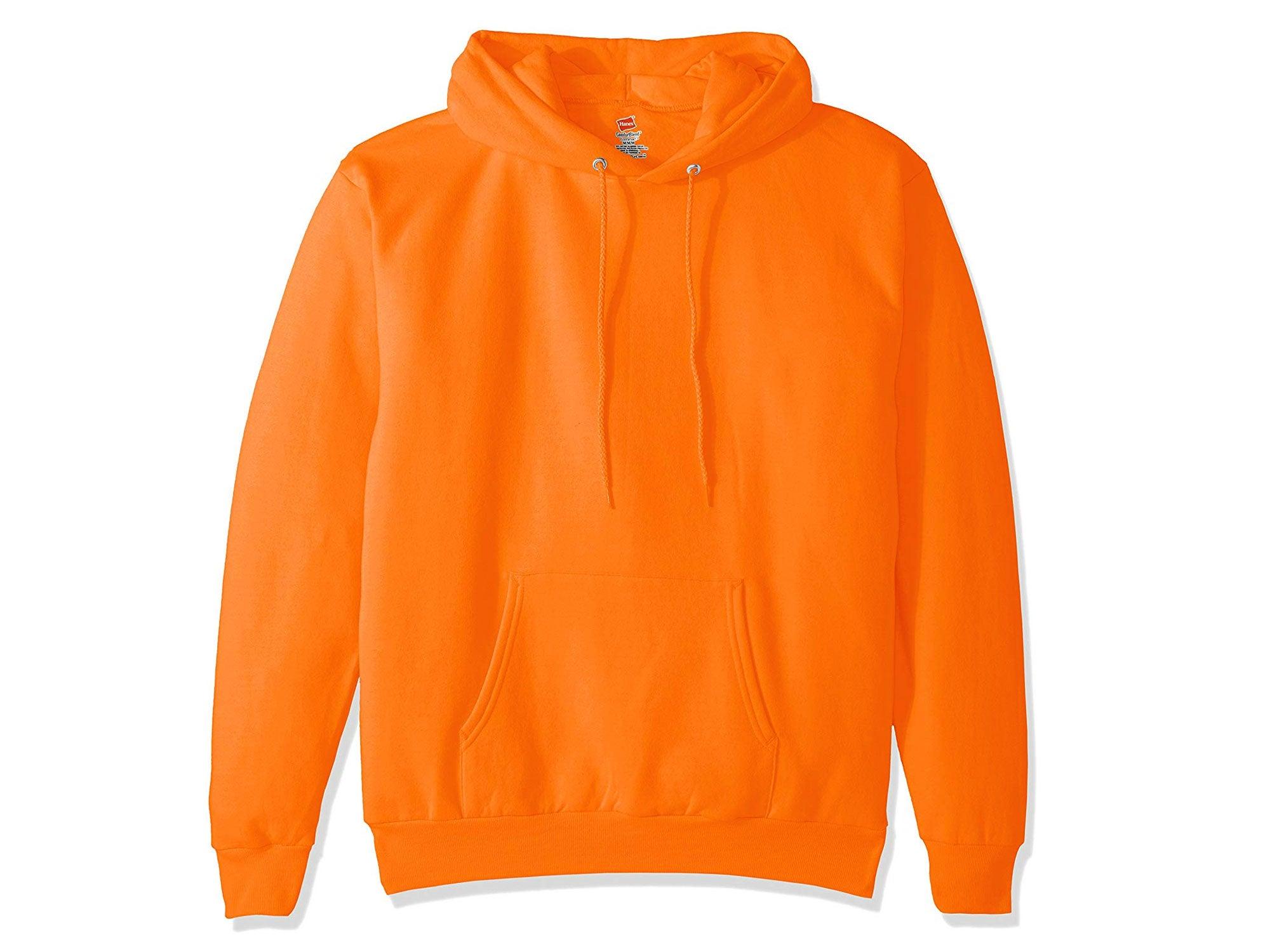 Hanes orange sweatshirt