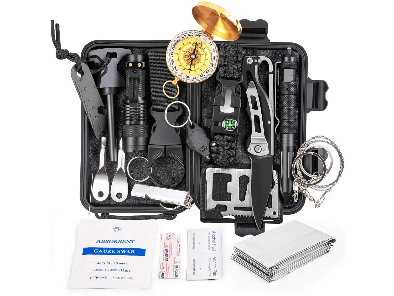 KOSIN Survival Gear, 18 in 1 Emergency Survival Kit
