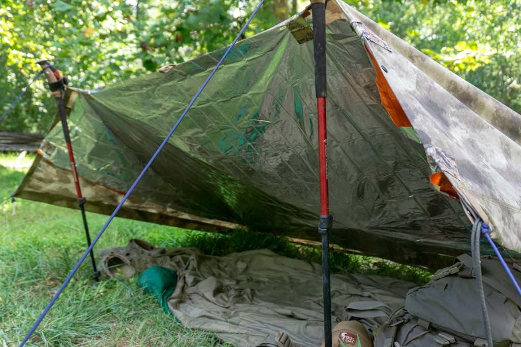 thermal blanket shelter
