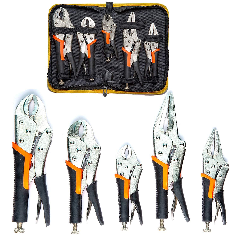 5 Pack Set Locking Pliers Set