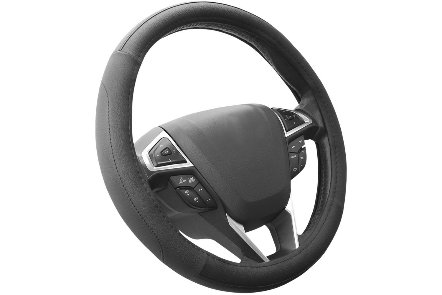 A grippier steering wheel provides better control