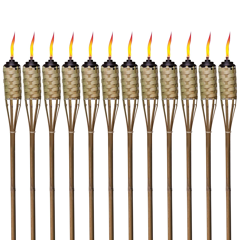 Bamboo tiki torches