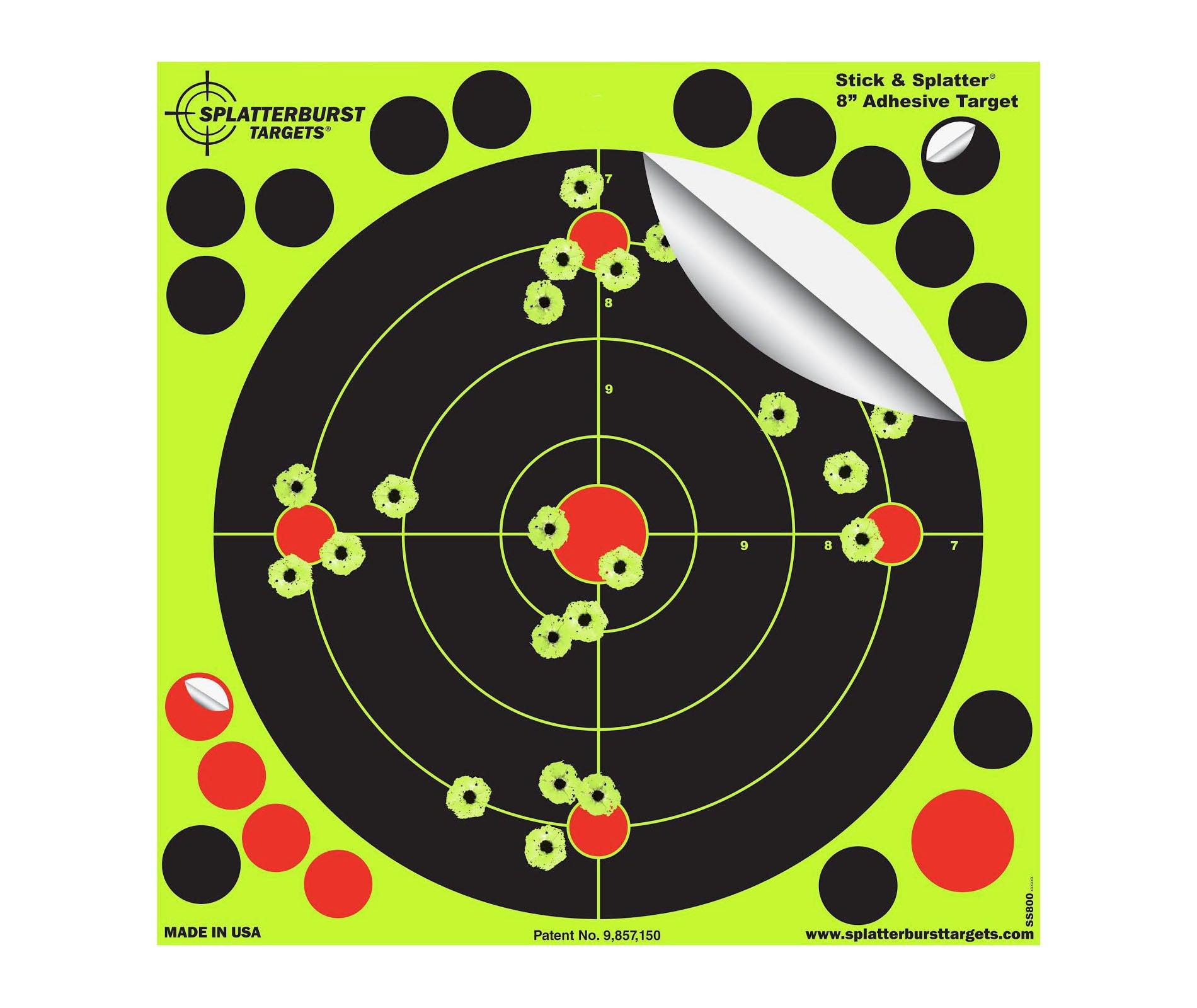 Splatterburst Targets - 8 inch Stick & Splatter