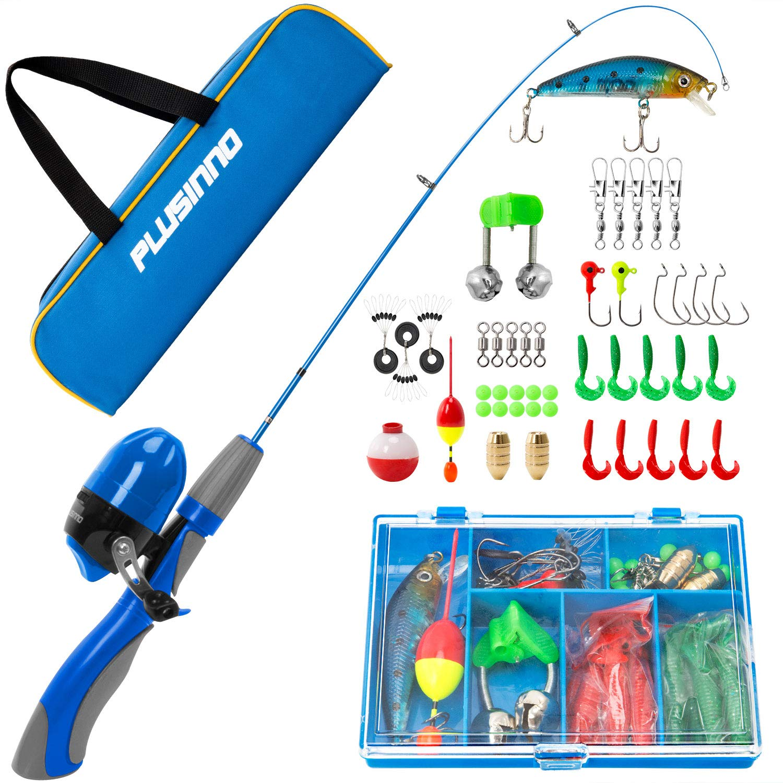 PLUSINNO Kids Fishing Rods Kit