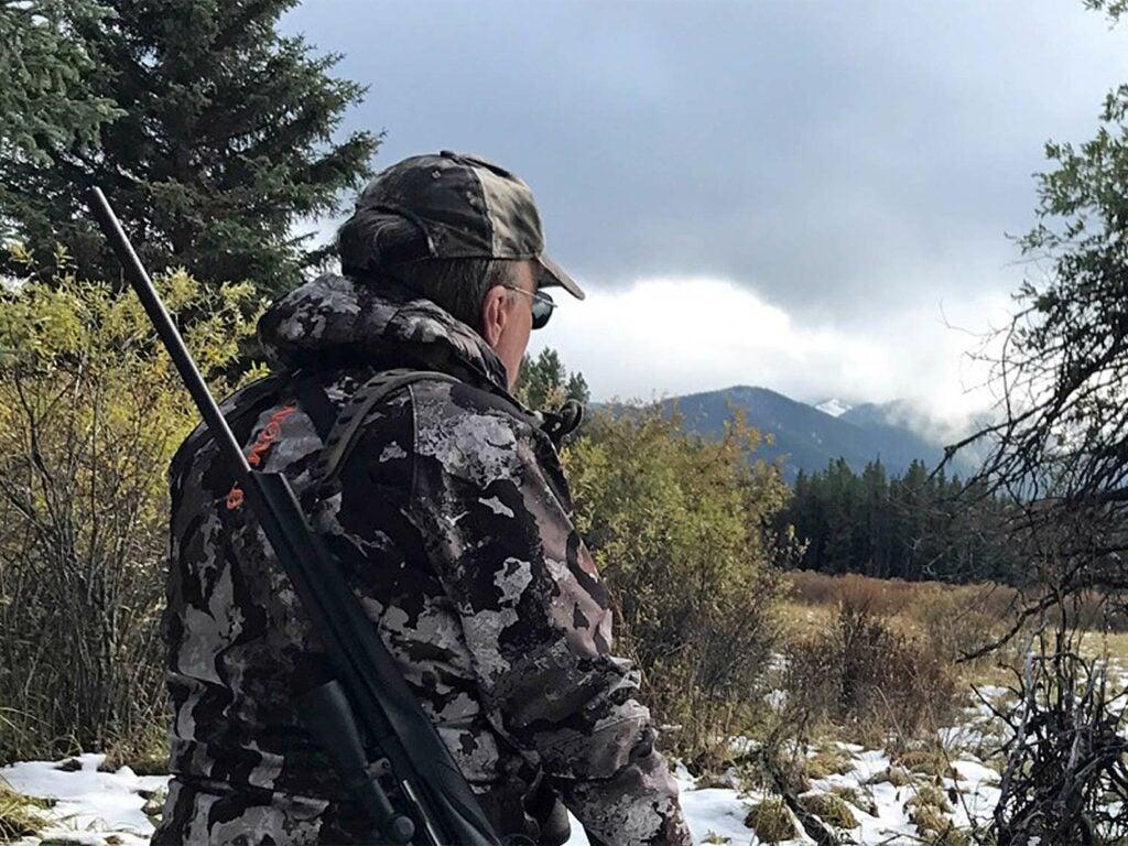 hunter hiking the canadian rockies