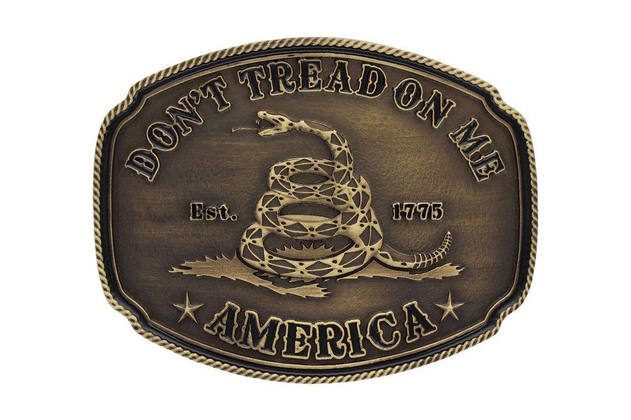 don't tread on me belt buckle