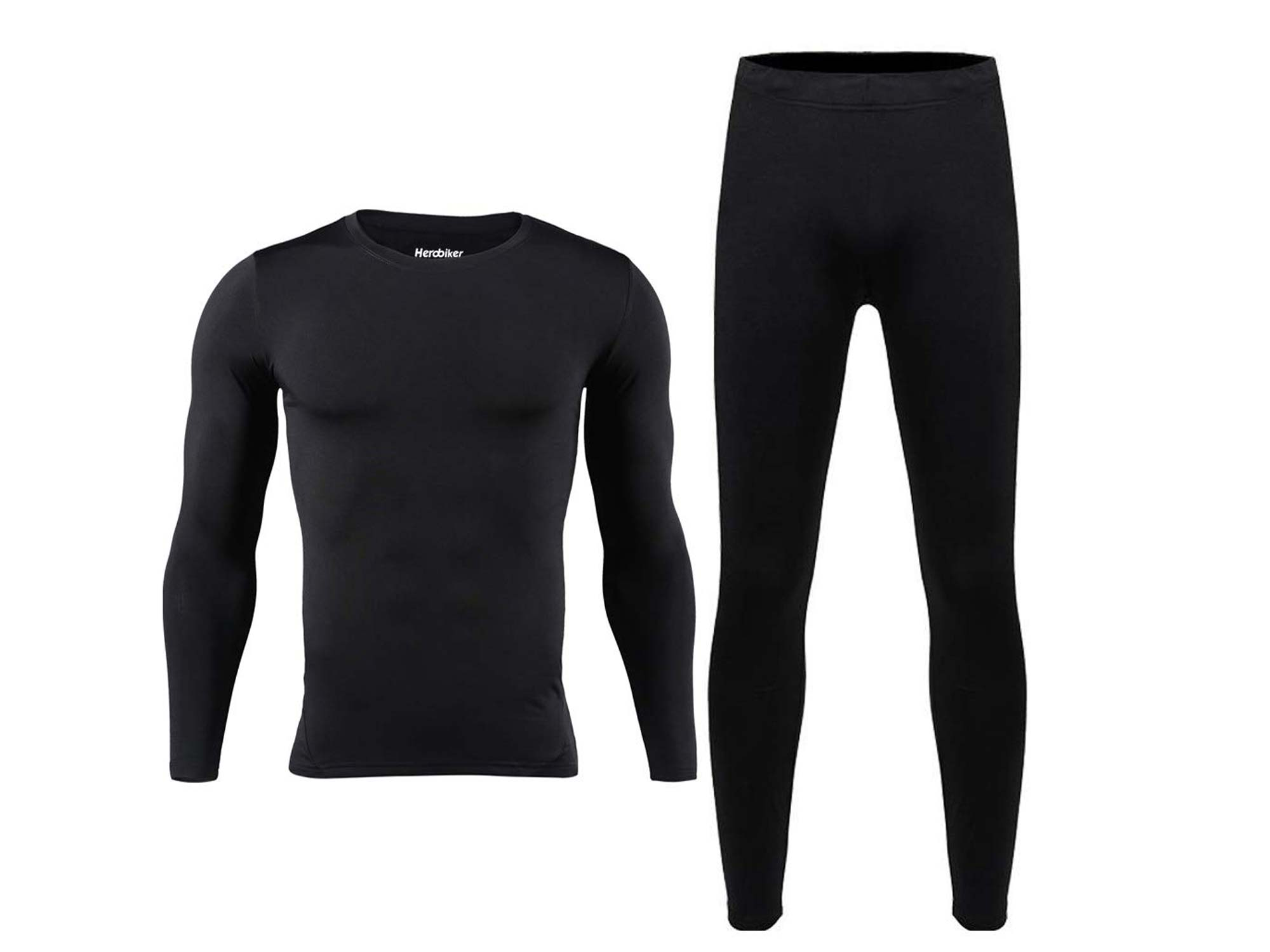Black thermal base layer outfit