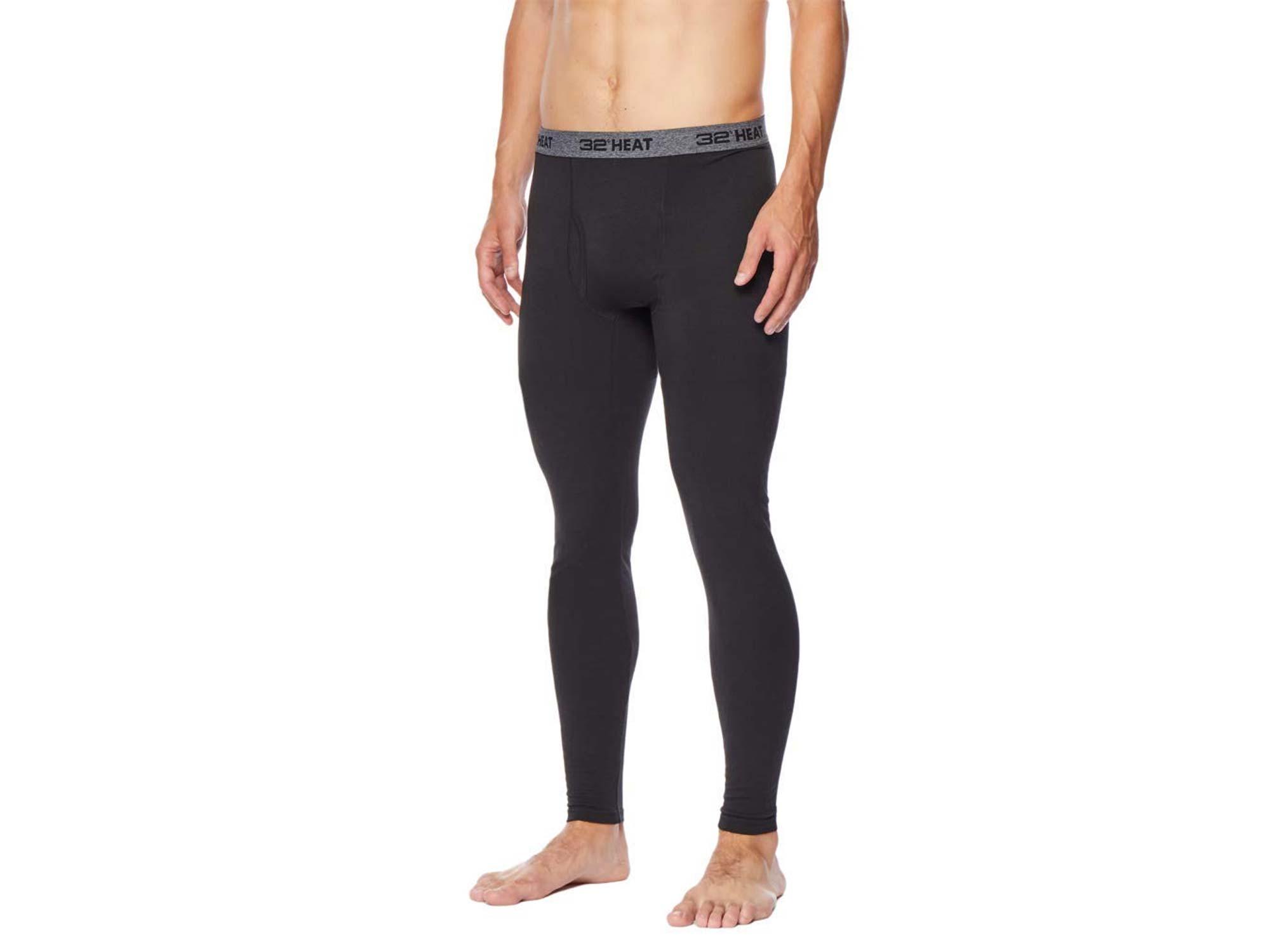 Man wearing base layer leggings
