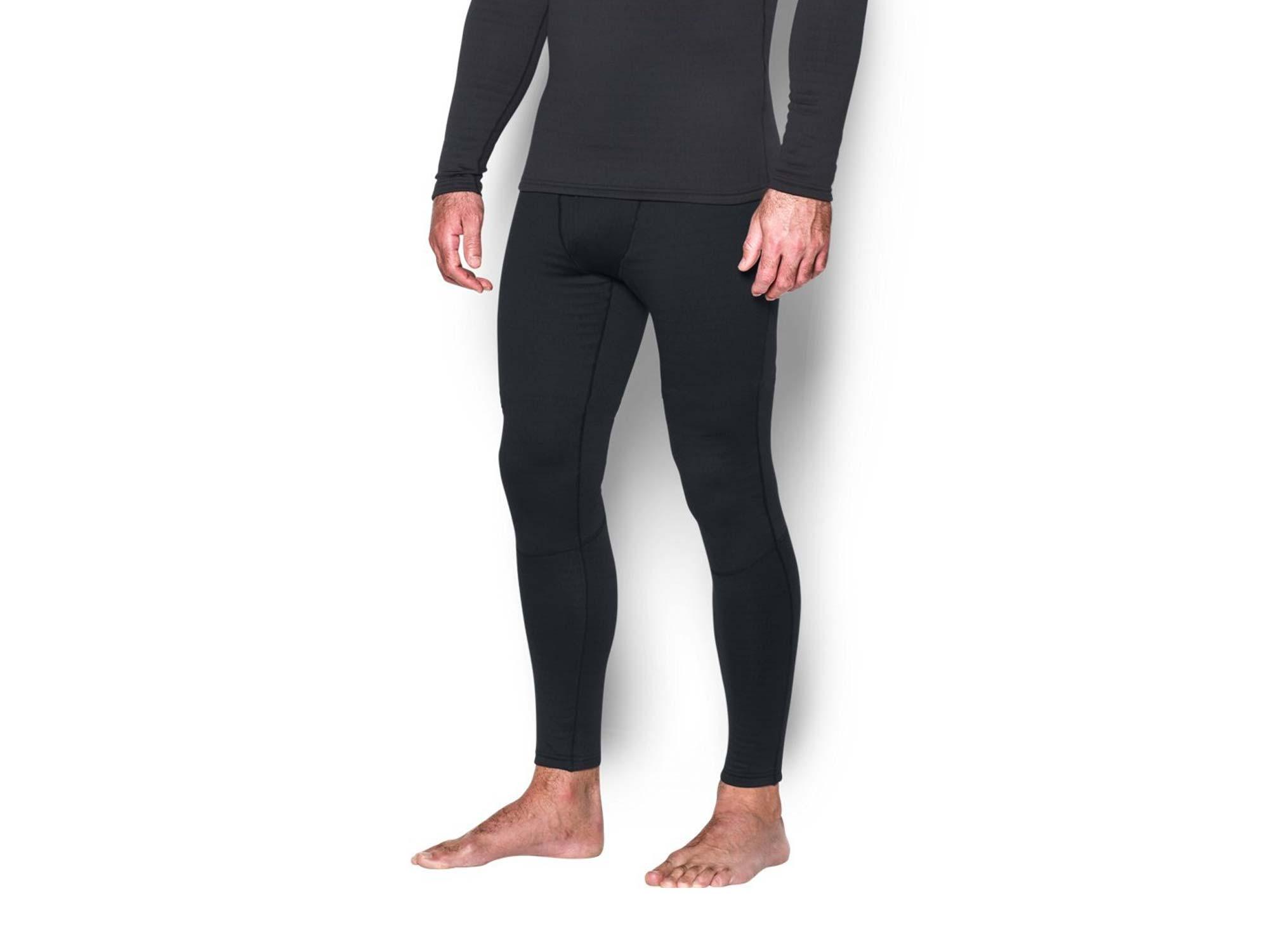 Man wearing black Under Armour leggings