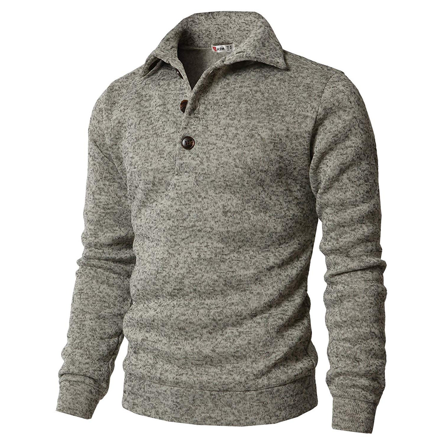 Warm sweater with a wide collar
