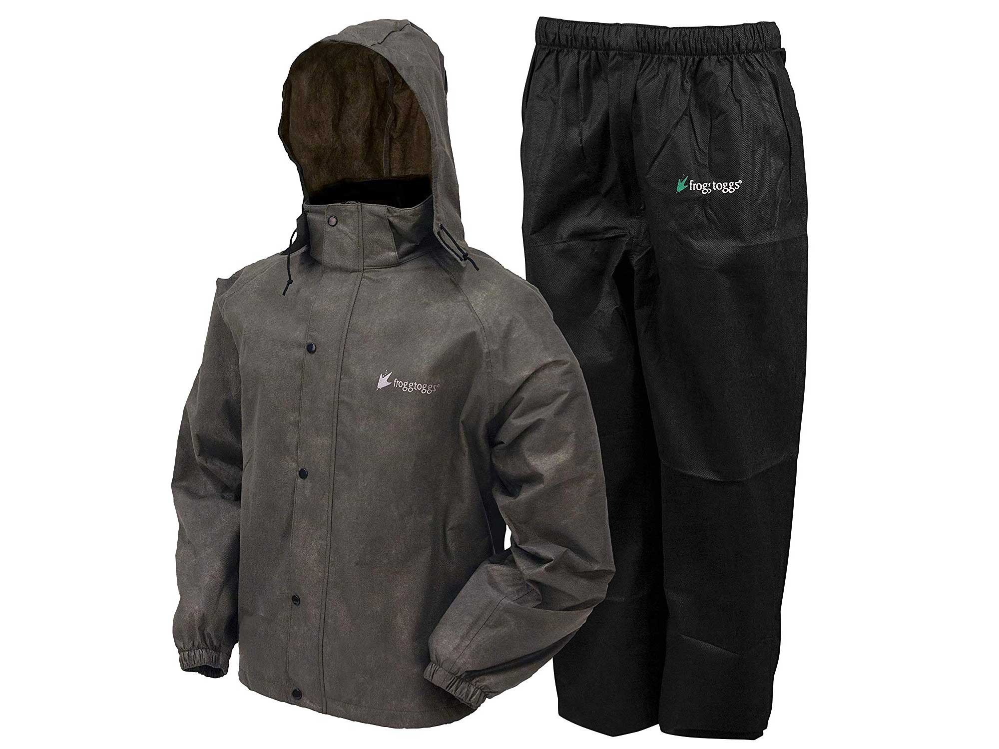 Grey rain suit