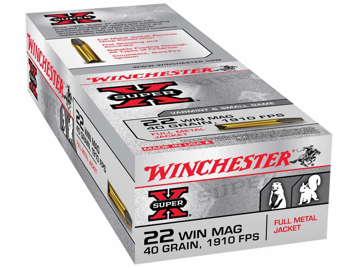 Winchester Super-X 22 WIN MAG Full Metal Jacket