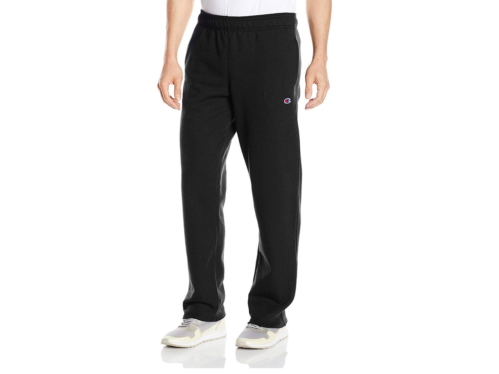 Champion Men's Powerblend Open Bottom Fleece Pant