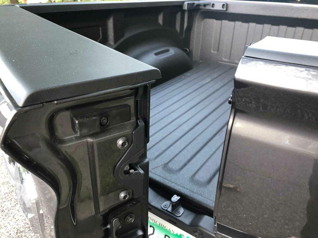 a split tailgate on a ram diesel truck