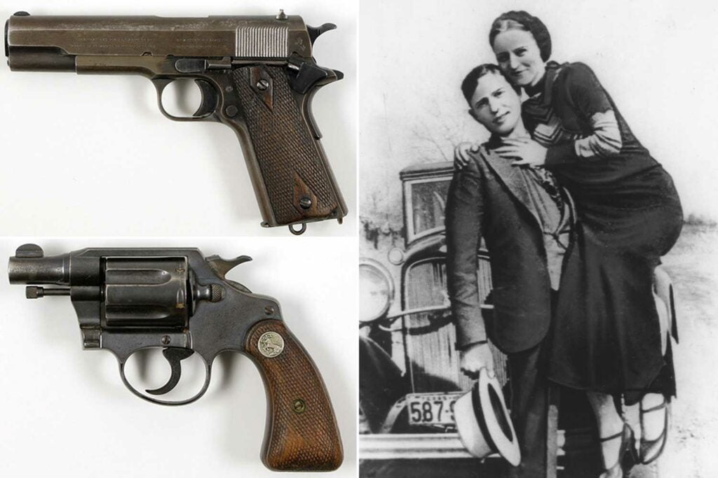 Bonnie and Clyde's 1911 and Colt Detective Special