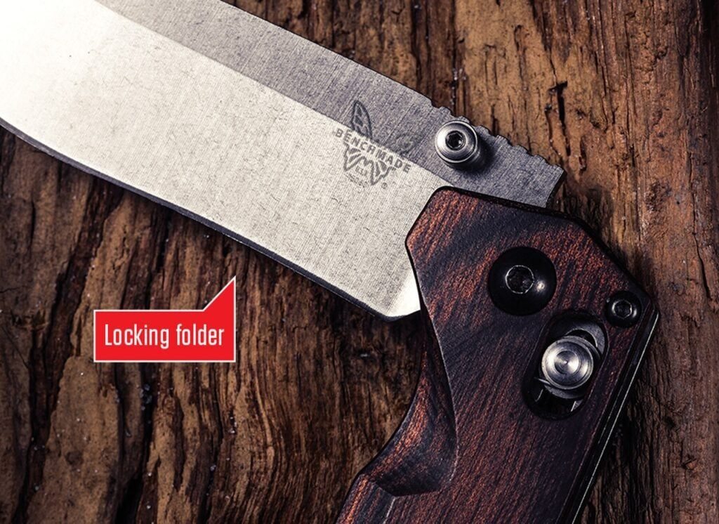 The traditional choice, a fixed-blade knife is stronger than most folders.