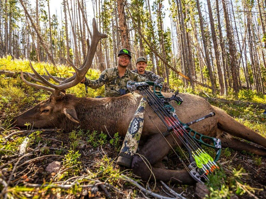 elk hunter wyoming bull elk