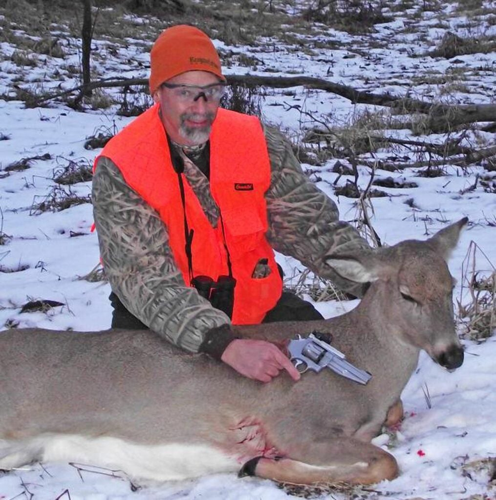 Phil Bourjaily with his first successful handgun hunt.