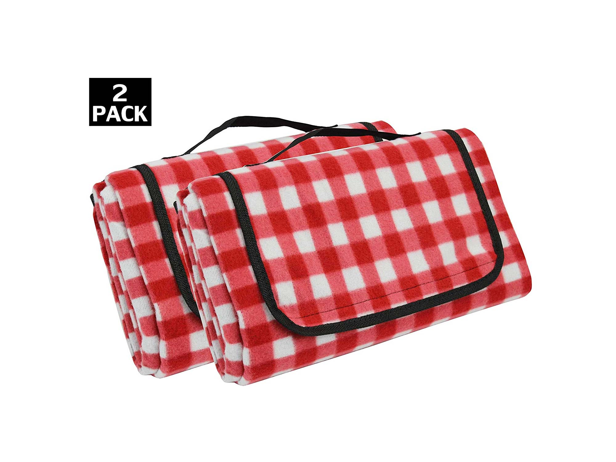 Red Checkered Oversized Beach Blanket Sand Proof